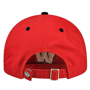 Top of the World NCAA -Crew Two-Adult Adjustable Strapback Hat Cap-Wisconsin Badgers