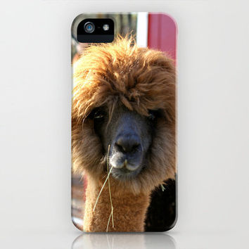 Theres something about an Alpaca iPhone Case by Veronica Ventress | Society6