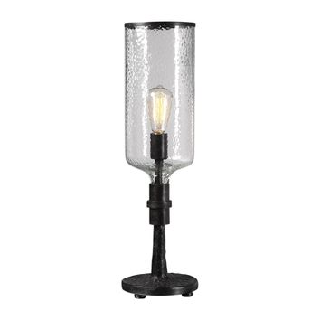 Hadley Old Industrial Iron Hurricane Accent Lamp by Uttermost