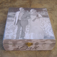 Personalized Wedding Keepsake Box, Father of the Bride Gift, Custom Mother of the Groom Gift, Photo Memory Box, Parent Thank You Gift