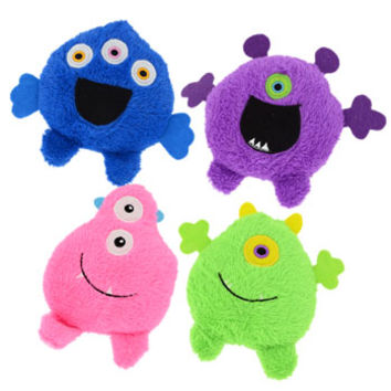 "Bulk Fuzzy Friends Plush Monster Friends, 4½"" at DollarTree.com"