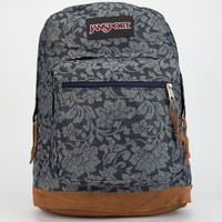 Jansport Right Pack Backpack Blue Floral Sparkle Jacquard One Size For Women 24877624901