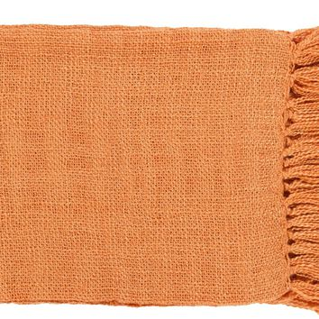 Tilda Traditional Woven Throw - Orange