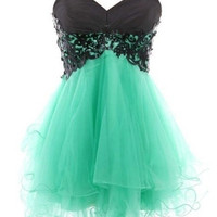 Cody Lace Butterfly Dress Lace Ball Gown Sweetheart Mini Prom Dress = 4807062724