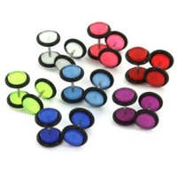 Multi-Color Glow in the Dark Fake Plugs with O Rings - 00G - 16G (1.2mm) Wire