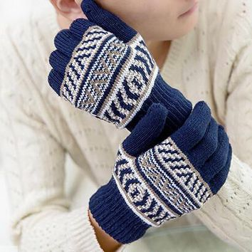 Winter Spring Men Women Keep Warm Gloves +Gift Box