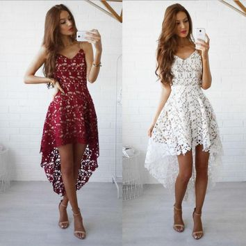PEAPX2 Stylish Summer Hot Sale Lace Prom Dress One Piece Dress [9893986957]