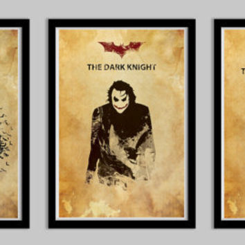 Batman Begins, Dark Knight, and Dark Knight Rises Posters 18x24 All THREE for 80 Dollars trilogy movie poster art