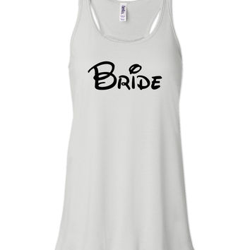 White Disney Bride Tank by jCUBEDk