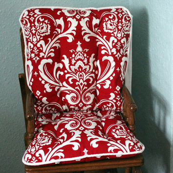 Choose Your Color Ozborne Damask High Chair Pads, High Chair Cover, Highchair Pads, Wooden Highchair Cover, Replacement Pads