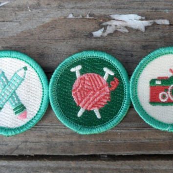 Handicraft 3-Pack: Storytelling, Needlecraft, and Photography Scout-Style Merit Badges