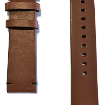 Movado BOLD Brown Leather 22mm Watch Band Strap with Buckle