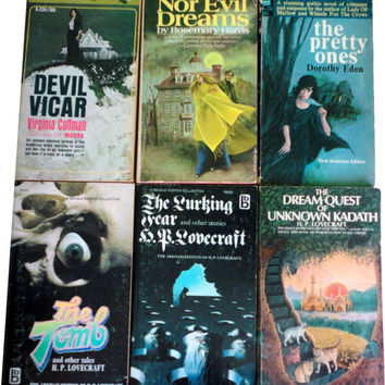 HP LOVECRAFT vintage book lot collection horror fantasy cult