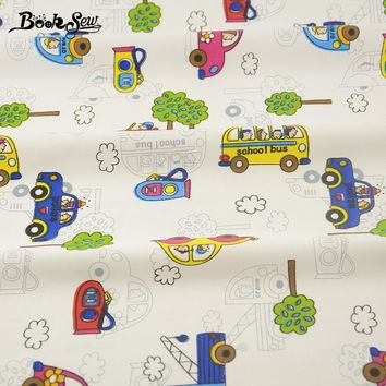 Quilting Sewing Craft Bedding Decoration Baby Kid Tissue 100% Cotton Fabric Home Textile Lovely Car Cartoon Designs Patchwork