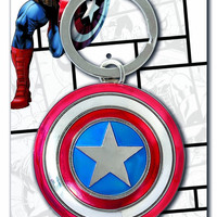 Marvel Captain America Shield Pewter Keychain