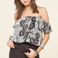 Amuse Society Penny Lane Off The Shoulder Woven Top