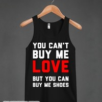 Can't Buy Me Love-Unisex Black Tank
