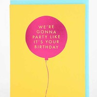 The Social Type Party Like It's Your Birthday Card- Yellow One