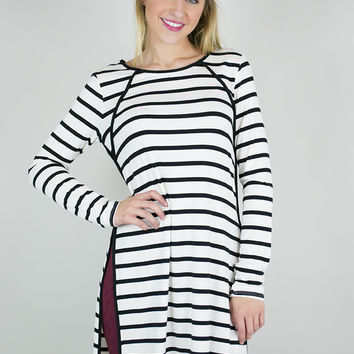 Sass And Stripes Long Sleeve Tunic