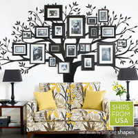 Family Tree Wall Decal - Photo Tree Decal - Family Tree