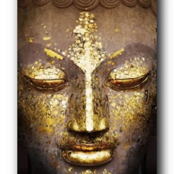 Golden Faced Buddha Poster
