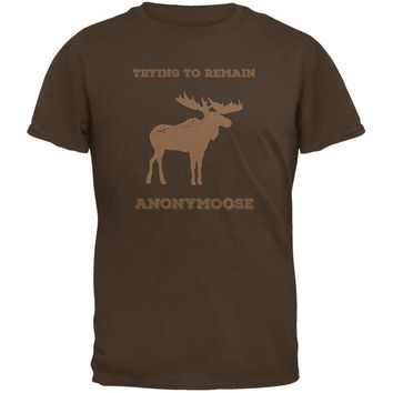 LMFCY8 PAWS - Moose Trying to Remain Anonymoose Brown Youth T-Shirt