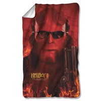 Hellboy Big Red Sublimated Fleece Blanket