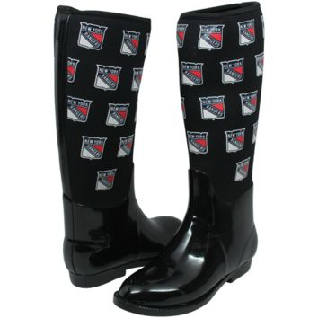 New York Rangers Cuce Shoes Women's Enthusiast II Rain Boots – Black