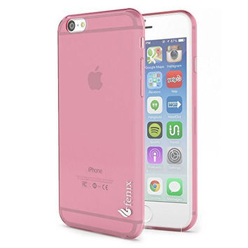 "iPhone 6, 4.7"",   Durable Hot Pink Rubberized Gel Tough Armor Case"