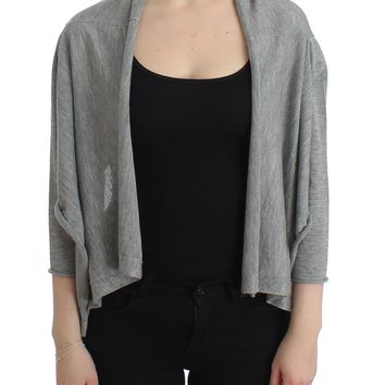 Gray Cashmere Cardigan Shrug Bolero Wrap Sweater