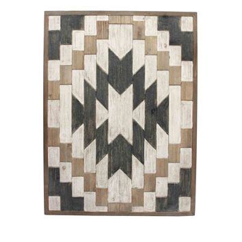 Abstract Wooden Wall Decor, Multicolor By Sagebrook Home