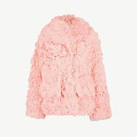 MIU MIU Oversized-collar shearling coat