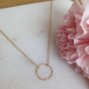 Elodie - Large Ring Necklace