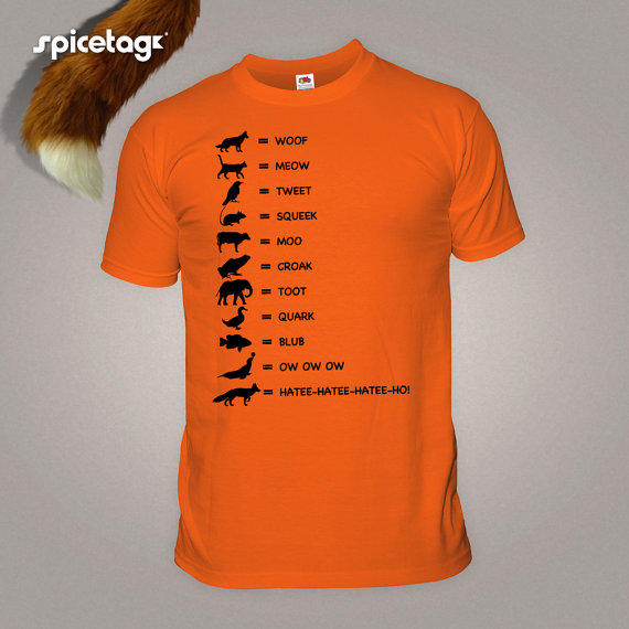 The fox t shirt what does the fox say from spicetagetsy on for Xxl band t shirts