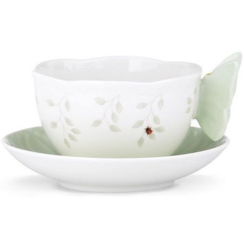 LENOX Butterfly Meadow Green Cup & Saucer