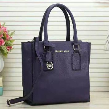 MK MICHAEL KORS New Fashion Leather Women Shoulder Bag Shopping Handbag Purple