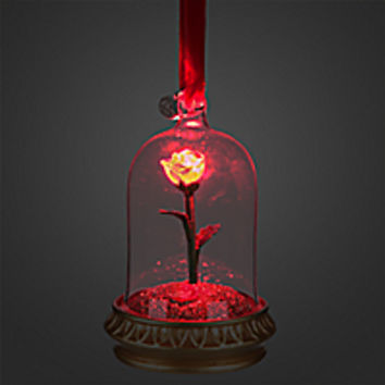 Enchanted Rose Light-Up Sketchbook Ornament - Beauty and the Beast - Personalizable