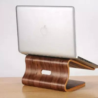 Samdi wooden laptop cooling stand high quality wooden stand for Apple Macbook for HP and other laptop article design stand