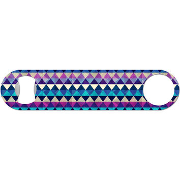 Geometric Aztec Print - Diamond Pattern Bottle Opener