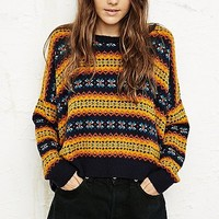 BDG Fair Isle Pop Crop Sweater - Urban Outfitters