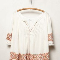 Reina Peasant Blouse by Velvet by Graham and Spencer White