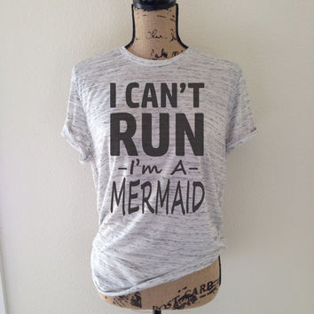 i cant run im a mermaid, mermaid tank, mermaid shirt, mermaid tank top, mermaid top, mermaids, trending