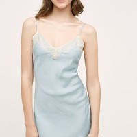 Samantha Chang Silk Chemise in Sky Size: