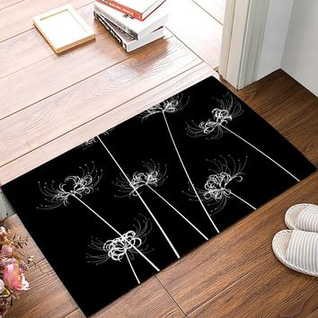Autumn Fall welcome door mat doormat Dandelion s Kitchen Floor Bath Entrance Rug Mat Absorbent Indoor Bathroom Decor s Rubber AT_76_7