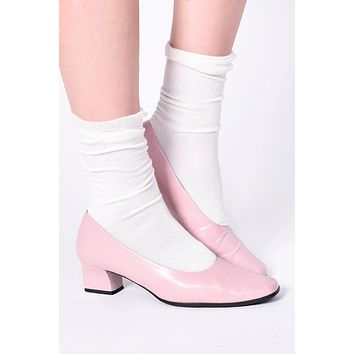 Ruffle Top Socks - Ivory