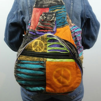 Funky Hippie Backpack /FREE SHIPPING TODAY