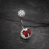 Charming Bow Tie Tiffany Inspired Sparkle Ferido Belly Ring
