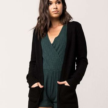 FULL TILT Essential Lace Up Back Womens Cardigan | Cardigans + Wraps