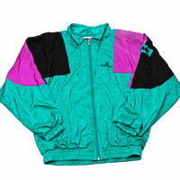 Vintage 1980s Pinehurst Golf Course Windbreaker Jacket Mens Size Medium