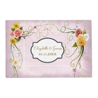 Rustic Floral Buds | Wedding Paper Placemat